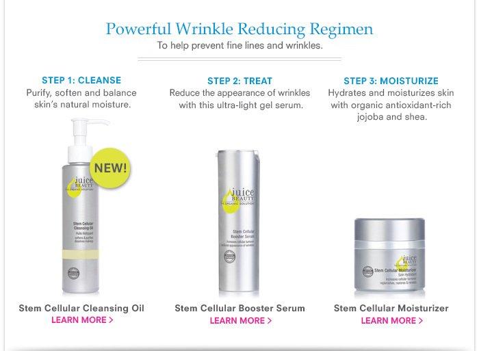 Powerful Wrinkle Reducing Regimen