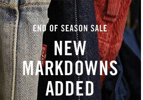 End of season sale new markdowns added