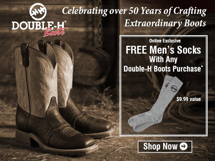 Online Exclusive - Free Men's Socks With Any Double H Boots Purchase
