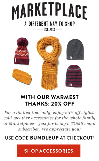 20% off select cold-weather accessories - use code BUNDLEUP at checkout