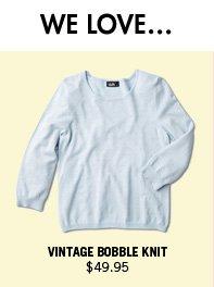 Vintage Bobble Knit $49.95