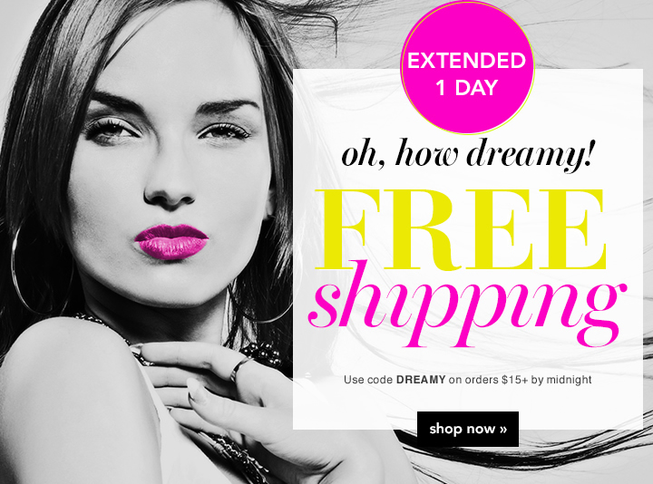 Eztended 1 Day Free Shipping Use Code: DREAMY Shop Now!