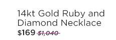 14kt Gold Ruby & Diamond Necklace