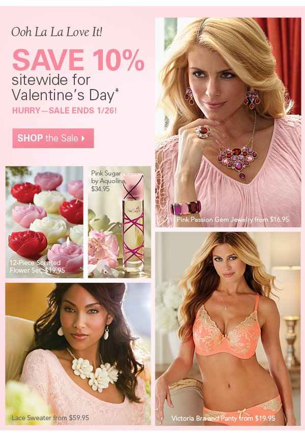 Oh La La Love it! Save 10% sitewide for Valentine's Day. Hurry Sale Ends 1/26. Shop the Sale.