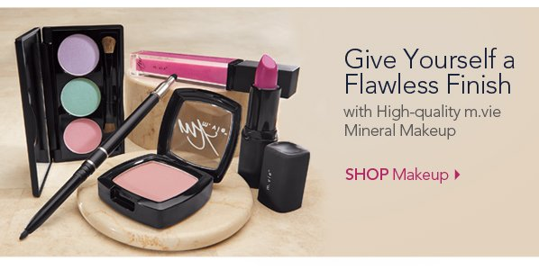 Give Yourself a Flawless Finish with high-quality m.vie Mineral Makeup. Shop Makeup