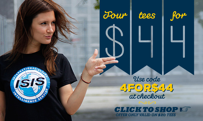 Get 4 Tees for 44, Shop Now