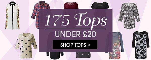 175 Tops under £20