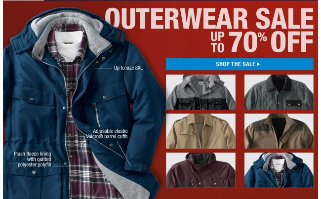 outerwear sale up to 70 percent off - shop the sale