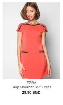 EZRA Drop Shoulder Shift Dress