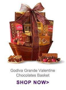 Godiva® Grande Valentine Chocolates Basket Shop Now