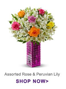 Assorted Pink Rose & Peruvian Lily Bouquet Shop Now