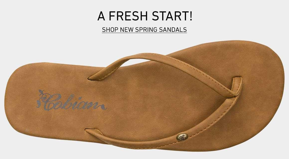 A Fresh Start: Shop New Spring Sandals