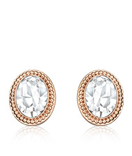 Arrive Pierced Earrings, rose gold-plated