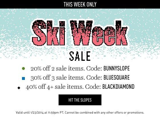 Ski Week Sale