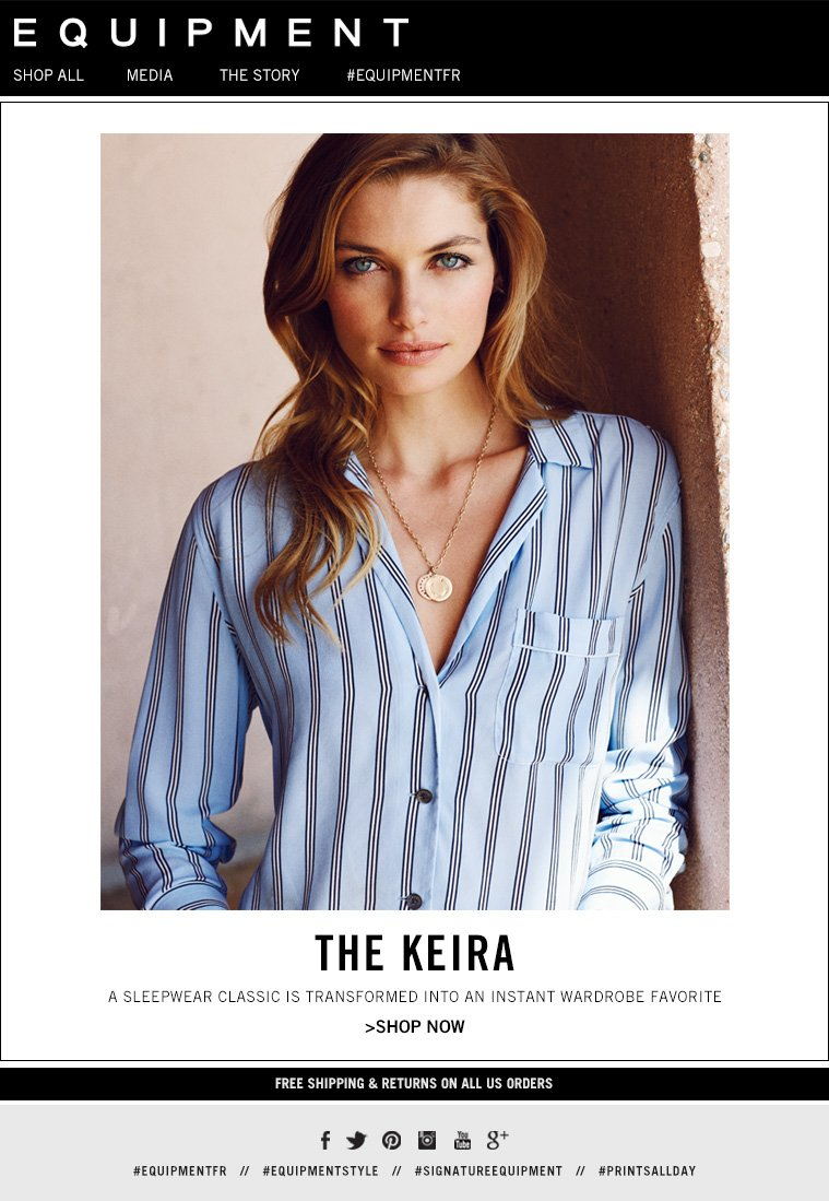 THE KEIRA  A SLEEPWEAR CLASSIC IS TRANSFORMED INTO AN INSTANT WARDROBE FAVORITE