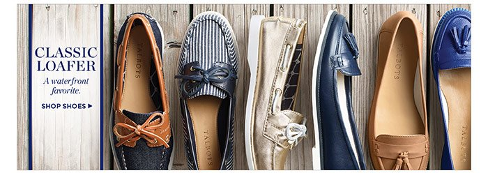 Classic Loafer. A waterfront favorite. Shop Shoes.