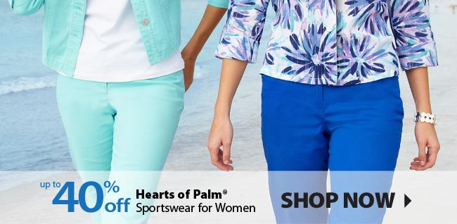 Up to 40% off Hearts of Palm Sportswear for Women