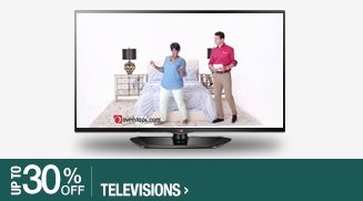 Up to 30% off Televisions