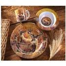 CastleCreek® 12-Pc. Whitetail Melamine Dinnerware Set