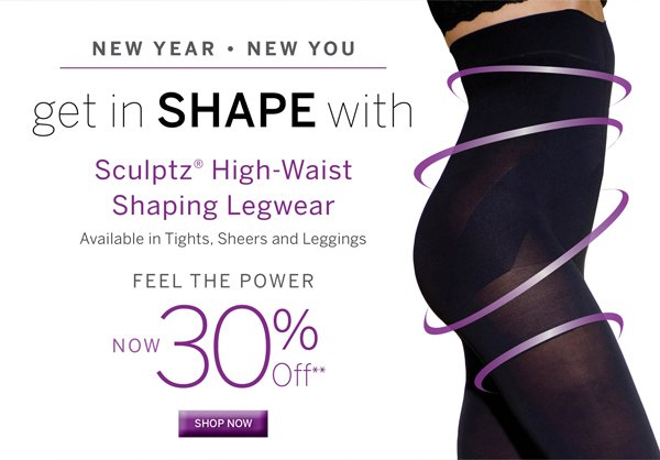 Sculptz High Waist Legwear is 30% off for a limited time. Plus get free shipping with every purchase of $40 or more.