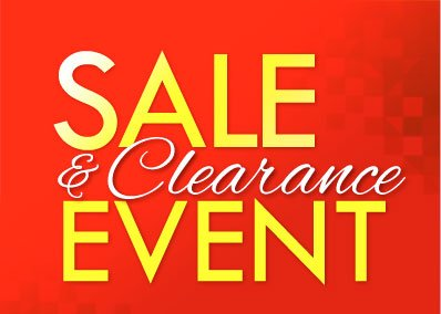 SHOP SALE and CLEARANCE Event!
