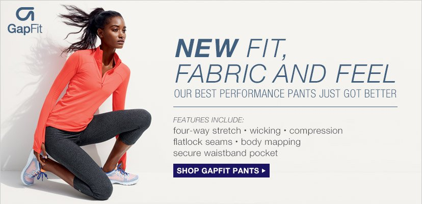 GapFit | NEW FIT, FABRIC AND FEEL | SHOP GAPFIT PANTS