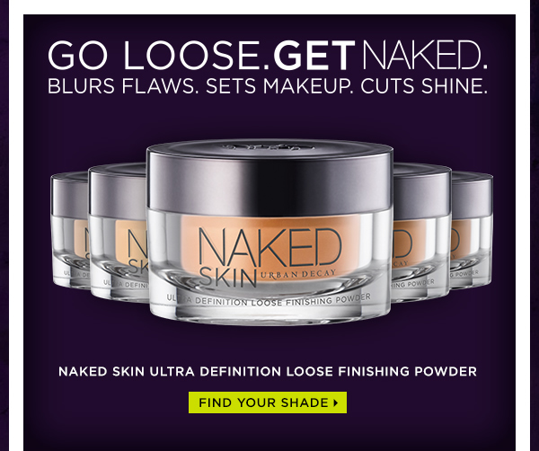 Go loose. Get Naked. Blurs flaws. Sets makeup. Cuts shine. Naked Skin Ultra Definition Loose Finishing Powder. Find your shade >