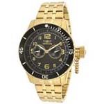 Invicta 14888 Men's Specialty Black Carbon Fiber Dial Gold Tone Steel Dive Watch