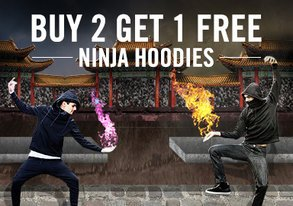 Shop Ninja Hoodies: Buy 2 Get 1 Free