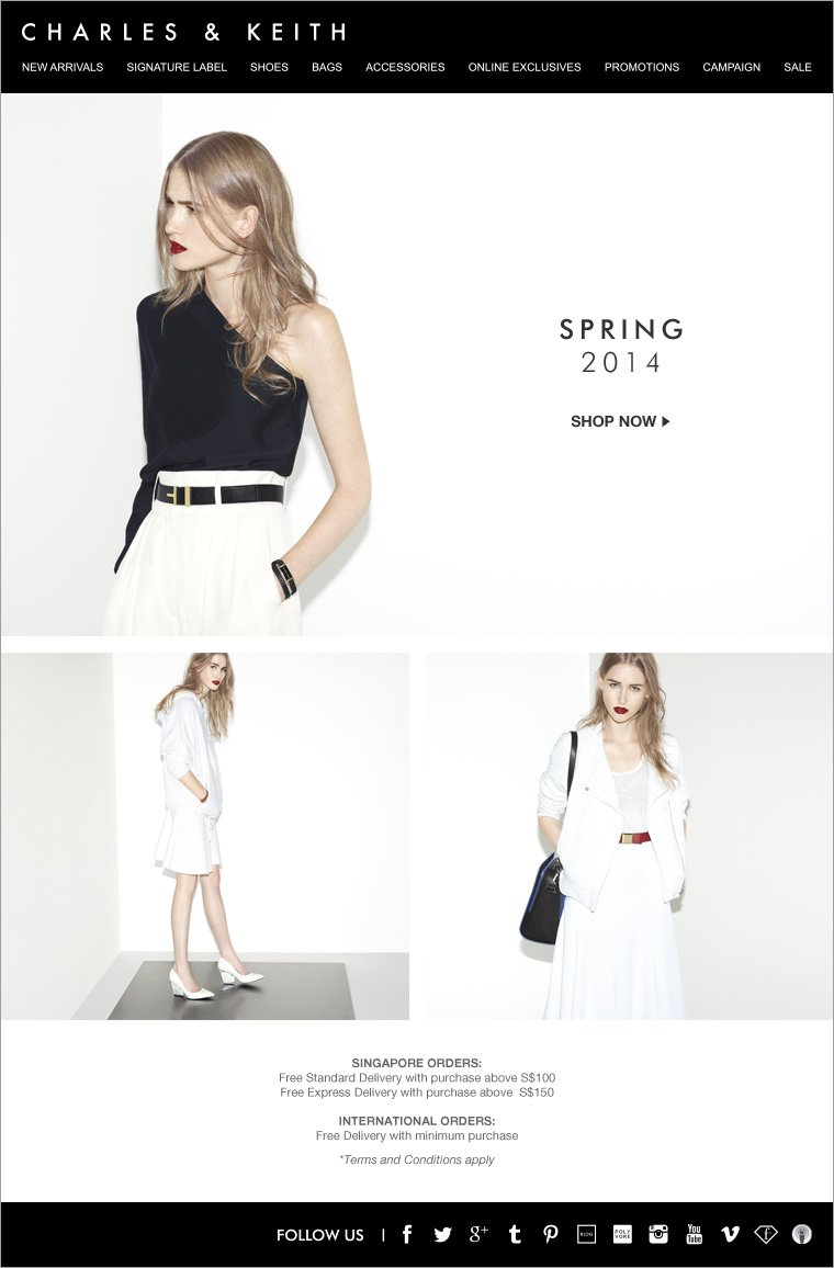 Charles & Keith Spring Collection 2014