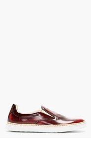 MAISON MARTIN MARGIELA Oxblood Leather Slip-On Shoes for men