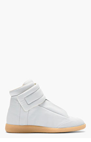 MAISON MARTIN MARGIELA Light Grey Leather Future High-Top Sneakers for men