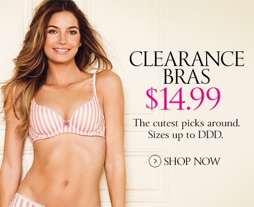 Clearance Bras $14.99