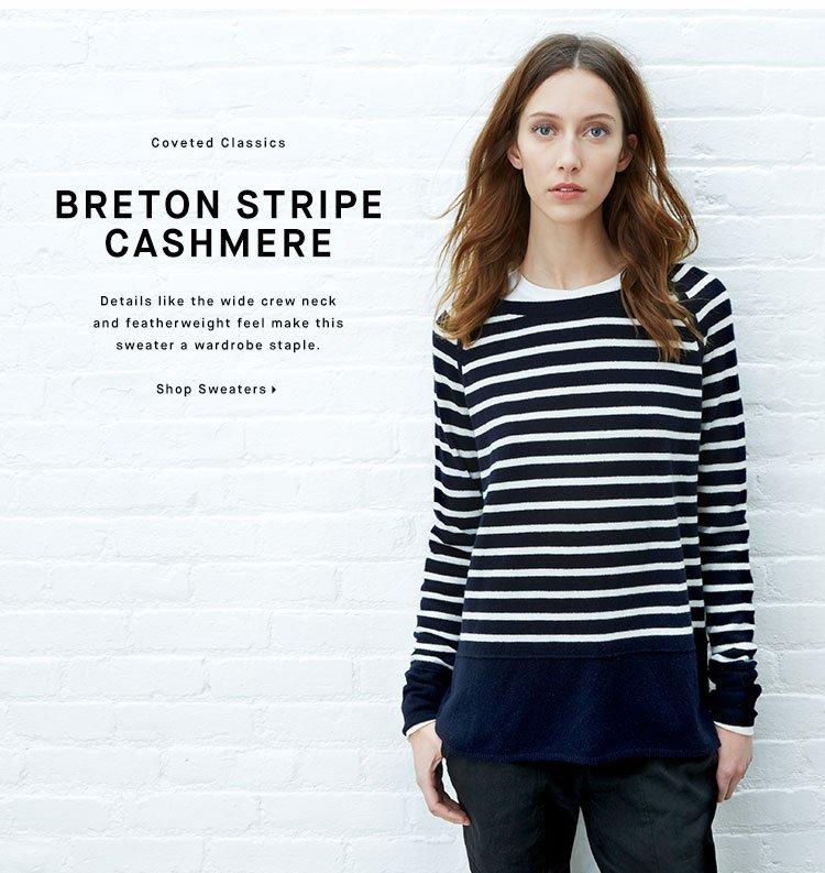 BRETON STRIPE CASHMERE - Shop Sweaters