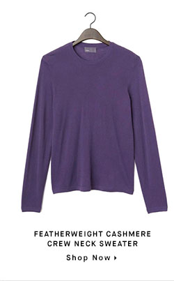 FEATHERWEIGHT CASHMERE CREW NECK SWEATER - Shop Now