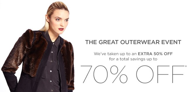 Up to 70% Off Outerwear