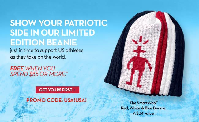 Show your patriotic side in our limited edition beanie