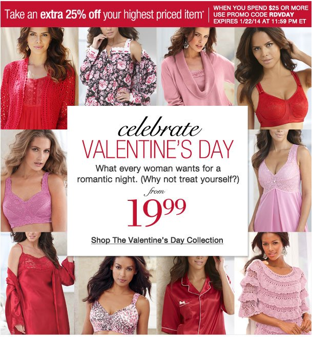 Take an Extra 25% off your highest item! Use RDVDAY