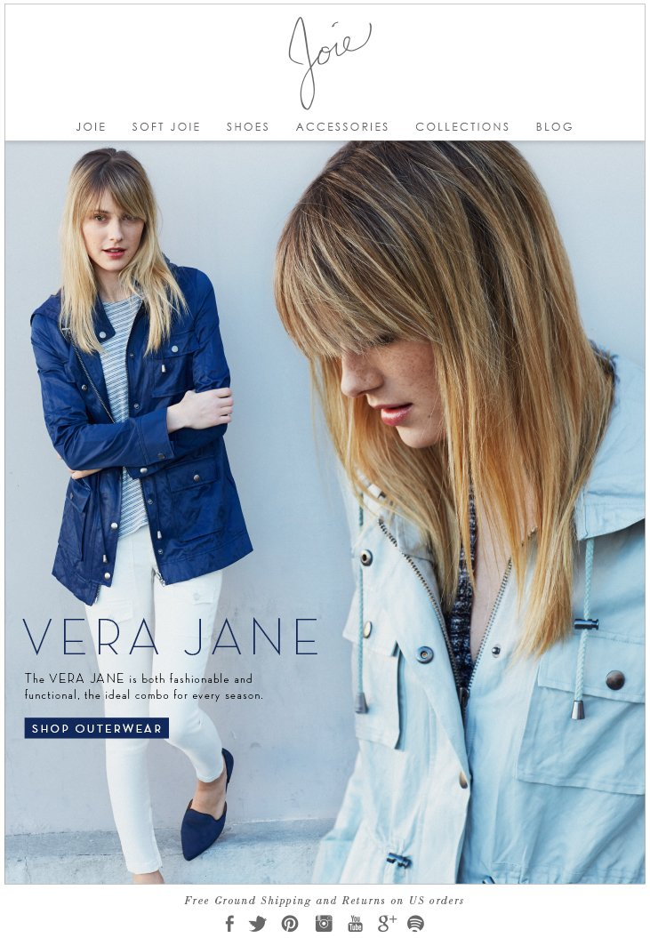 VERA JANE The VERA JANE is both fashionable and functional, the ideal combo for every season SHOP OUTERWEAR