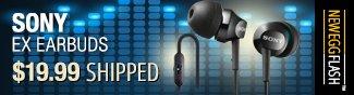 Newegg Flash - Sony EX Earbuds.
