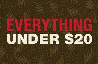 Everything Under $20 Mega-Sale