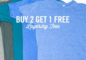 Shop Buy 2 Get 1 Free: Layering Tees