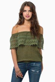Carrie Crochet Top