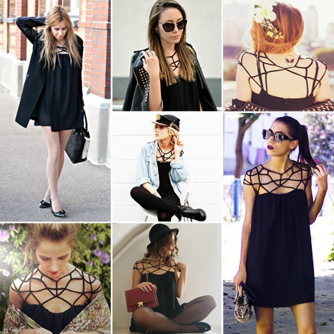 Cut-out Black Dress