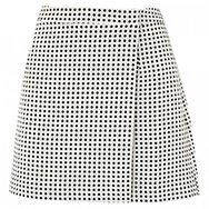 JOIE - Marti polka dot jacquard wrap skirt