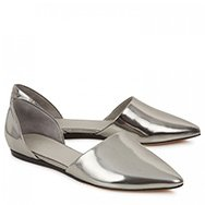 VINCE - Nina metallic leather ballet flats