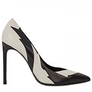 SAINT LAURENT - Monochrome pointed leather pumps
