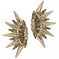 ANTON HEUNIS - Crystal embellished fan earrings