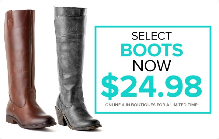 Select Sale Tall Boots now $24.98