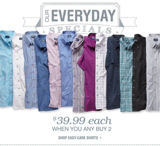 Easy Care Short Sleeve Shirts Mix and Match
